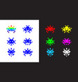 icons in style pixel art for game in a vector image