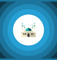 isolated mohammedanism flat icon architecture vector image vector image