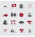 Japanese theme stickers set eps10 vector image vector image
