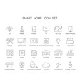 line icons set smart home pack vector image vector image