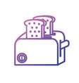 line toaster technology kitchen utensil object vector image vector image