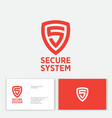 logo secure system antivirus protection business vector image vector image
