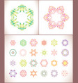 mandala colored set of vector image