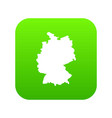 map of germany icon digital green vector image