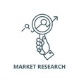 market researchzoom in handsearching line vector image vector image