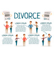 marriage and divorce infographics vector image