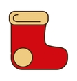 merry christmas socks isolated icon vector image vector image