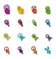 mouse pointer icons doodle set vector image vector image