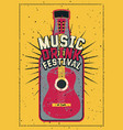 music and drink festival typography grunge poster vector image