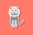 paper sticker on stylish background pet cat vector image vector image