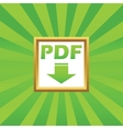 PDF download picture icon vector image