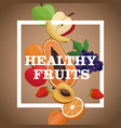 poster healthy fruits tasty meal vector image vector image
