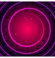 Purple glowing circle frame with sparkles vector image vector image
