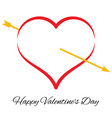 red heart with arrow vector image vector image