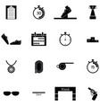 running icon set vector image vector image