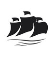 sail icon on white background vector image vector image