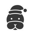 seal wearing santa hat silhouette icon design vector image vector image