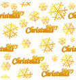 seamless pattern merry christmas golden logo and vector image vector image