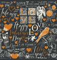 seamless pattern with love theme sketches vector image vector image
