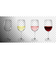 set glasses with wine vector image