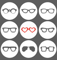 Set of fashion icons vector image vector image