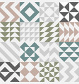set of seamless pattern design vector image vector image