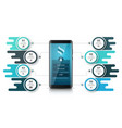 smartfone business infographic business graphic vector image