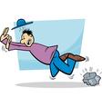 stumbling man cartoon vector image