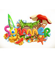 summer beach holiday set 3d icon vector image vector image