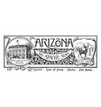the state banner of arizona the apache state vector image vector image
