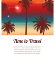 travel background with exotic landscape vector image vector image