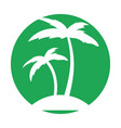 tree palm beach icon vector image vector image