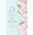 tulip butterfly save the date vector image