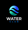 water club logo swimming sail sport logo pool vector image