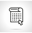 Web news black line design icon vector image vector image