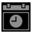 white halftone time schedule icon vector image