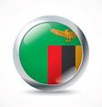 Zambia flag button vector image vector image