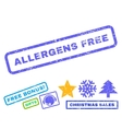 Allergens Free Rubber Stamp vector image vector image