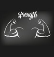 arm bicep strong hand icon cartoon calligraphic vector image vector image