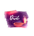 artistic happy diwali festival background with vector image vector image