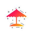beach umbrella icon protection from the sun vector image