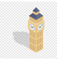 big ben isometric icon vector image vector image