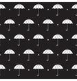 Black and White Umbrella Pattern vector image