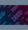 blue purple abstract neon arrows tech background vector image vector image