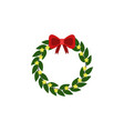 bow decoration color icon element of christmas vector image