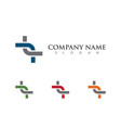 business corporate abstract unity logo design vector image vector image