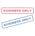 business only textile stamps vector image vector image