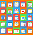 calendar schedule planning icons set flat style vector image