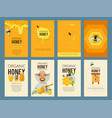 cards with of apiary vector image
