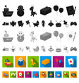 children s toy flat icons in set collection for vector image